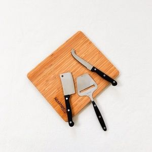 Nearnorth Cheese Knife Board Set Wood Stainless